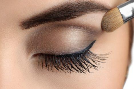 eye shadow application.